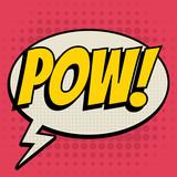 Pow comic book bubbl...