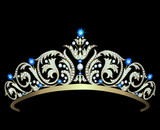 Diamond tiara with sapphires
