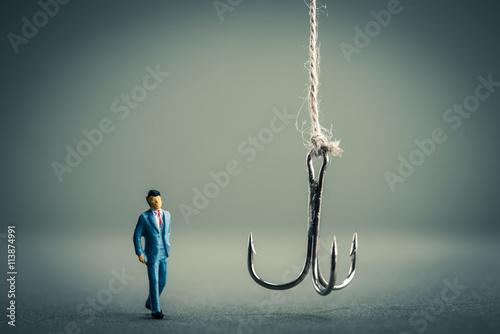 釣り針とビジネスマン Poster
