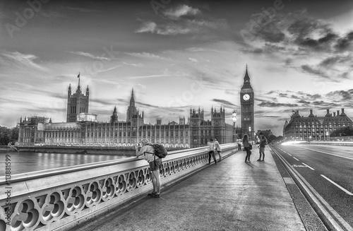 Foto op Aluminium New York Beautiful black and white view of London, UK