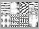 Scribble hand drawing vector textures set