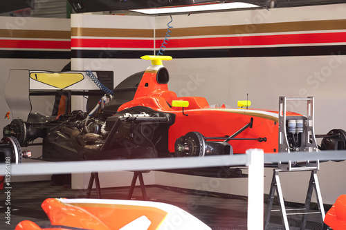 Fotobehang Formule 1 Racing car Formula 1 maintenance