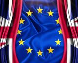 Brexit Great Britain leave European union concept illustration - 113933736