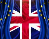 Brexit Great Britain leave European union concept illustration - 113933757