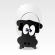 Schaf mit Kopfhörern