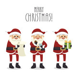 figures set santa claus isolated icon design, vector illustration  graphic