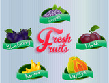 Fruits labels collection