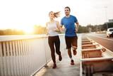 Fototapety Active couple jogging