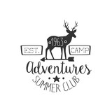 Summer Club Adventures Vintage Emblem