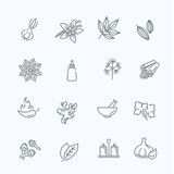 Web icon set - spices, condiments and herbs - 113965743