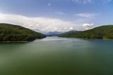 Vidraru Dam on Arges River. Arges, Romania. Hydro electric power