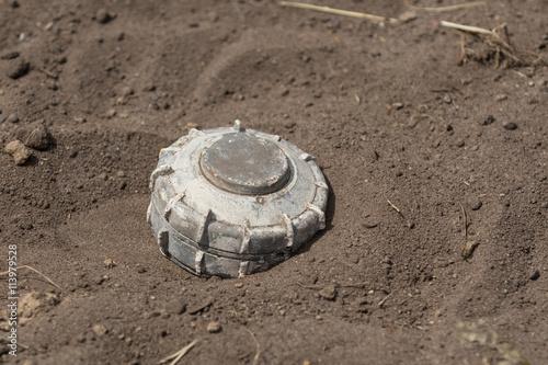 Poster Symbolbild Landmine