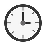 simple round clock , vector illustration