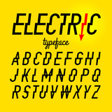 Electric style typeface