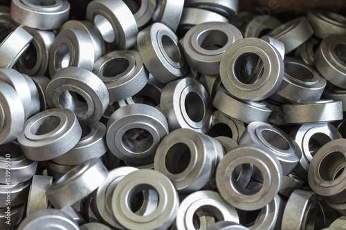 Poster Metal parts, steel. Steel rollers, rollers.