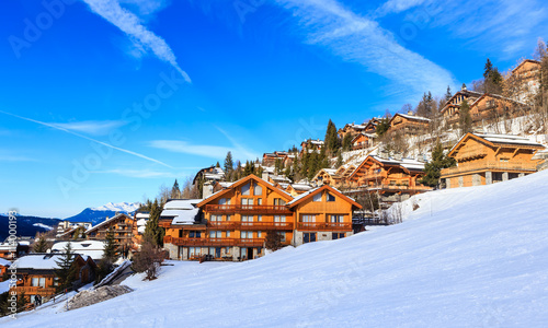 Foto Murales Chalet on the slopes of the valley Meribel. Ski Resort Meribel