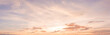 panorama sunset sky