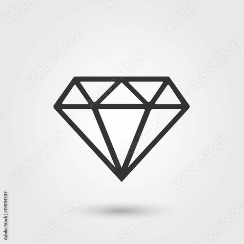 Diamond.Diamond Icon Vector. Płaska ikona. Obraz ikony diamentu.