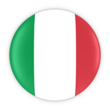 Italian Flag Button - Flag of Italy Badge 3D Illustration