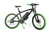 Black and green electric bike - 114019337