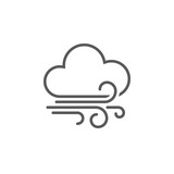 wind and clouds weather icon - 114032716