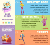 Sleep Man Infographic