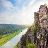 Saxon Switzerland national park landscape, Germany