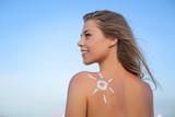 Woman wearing sun cream
