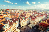 view from town hall tower, old town square, Prague