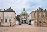 Amalienborg Palace and Marble Church Dome in Copenhagen