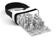 vr 3d glasses isolated with city pop out