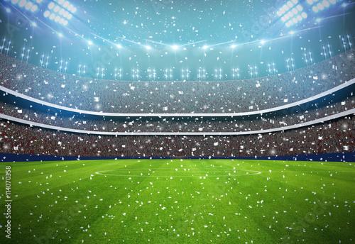 football Stadium background white team