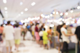 Abstract blur of people in shopping mall