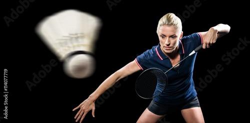 Poster Badminton player playing badminton