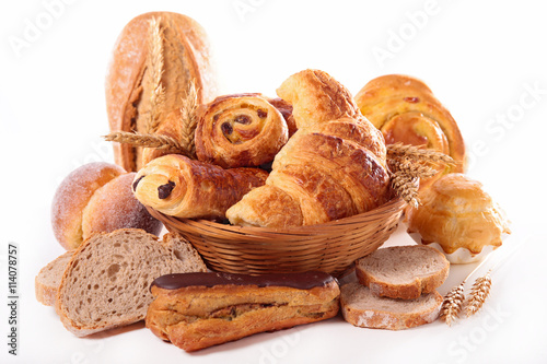 Poster assorted bread and pastry
