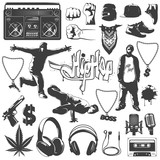 Hip Hop Icon Set - 114091996