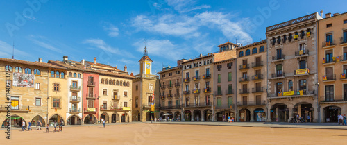 Main square of Vic, Catalonia, Spain
