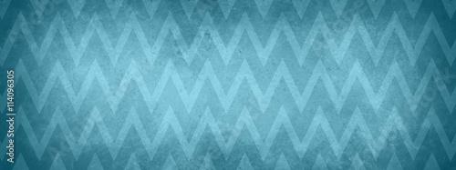 Fototapeta blue chevron striped pattern background with vintage texture