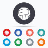 Volleyball sign icon. Beach sport symbol.