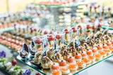 Assortment of canapes. - 114113199