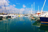 Antibes, France - October 17, 2011: Port of Antibes on the mediterranean sea