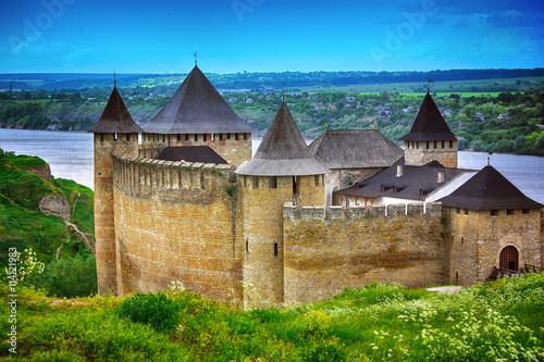 Poster Khotyn castle on Dniester riverside