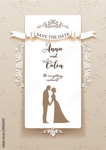 Zdjęcia na płótnie, fototapety, obrazy : Elegant wedding invitation