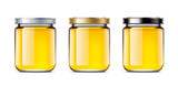 Set jars of honey
