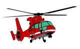 消防ヘリコプター(輪郭あり)