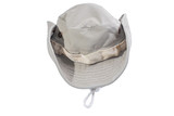 Bucket hat - Asian cowboy hat closeup isolated on a white background.