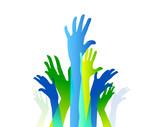 comunità colori, sfondo, mani