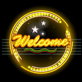 Neon Light signboard for Welcome Banner