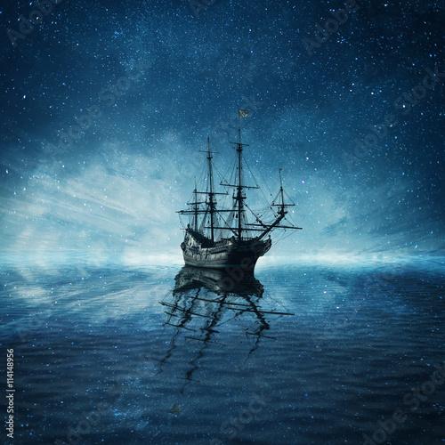 Keuken foto achterwand Schip ghost ship