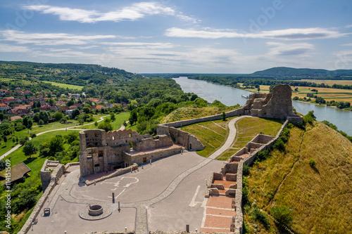 Poster Devin castle in Slovakia